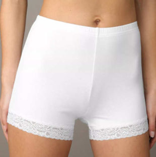Boxerkové dámske nohavičky s čipkovanými nohavičkami