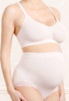 Komfortné tehotenské nohavičky vo svetle ružovom prevedení
