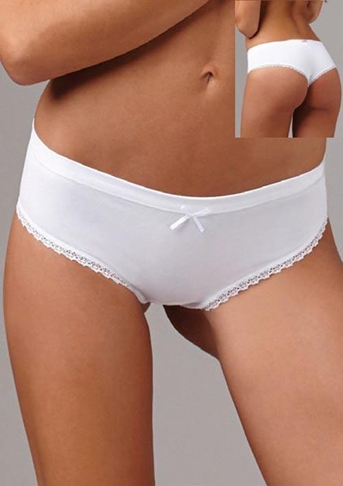 Nežné bavlnené dámske nohavičky brazílskeho strihu Lovelygirl 6651