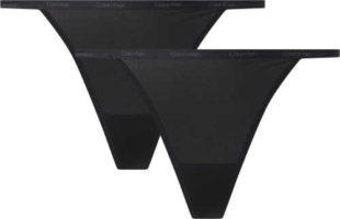 Dámske string nohavičky Calvin Klein v čiernej farbe