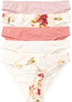 Balenie bielych a ružových nohavičiek s potlačou