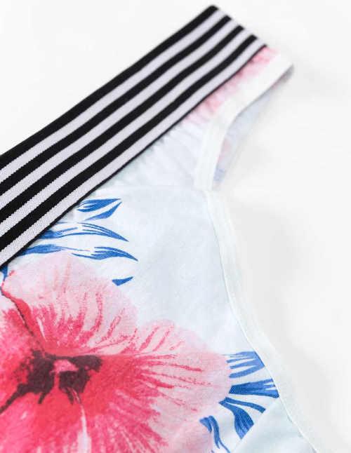 Dámske nohavičky s krásnou kvetinovou potlačou